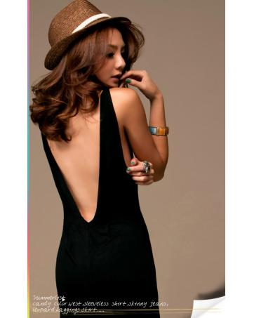 U back maxi dress