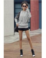 WT2438 Stylish Long Sleeves Top Grey