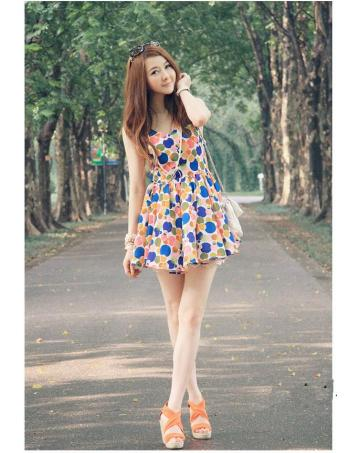 Cute Clothing For Women Online WD Cute Colorful Polka Dot