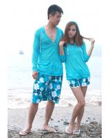WP9105 Flower Print Couple Pant (2 pcs)