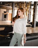 WT9219 Korea Fashion Top White
