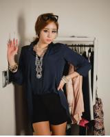 WT9222 Stylish Top Blue