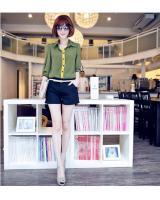 WT9202 Fashion Top Green