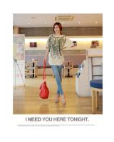 WT9205 Korea Fashion Top As Picture
