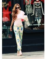 WP9208 Trendy Flora Pant Green