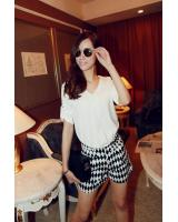 WT9211 Korea Fashion Top White