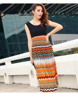 WD9212 Korea Fashion Dress Orange