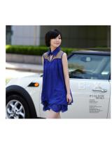 WD9247 Korea Fashion Dress Blue