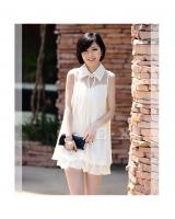 WD9247 Korea Fashion Dress White