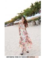 WD9251 Butterfly Print Dress Pink