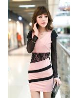 WD9252 Sexy Fashion Dress Pink