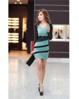 WD9252 Sexy Fashion Dress Green