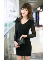 WD9252 Sexy Fashion Dress Black