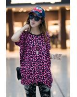 WT9253 Dot Print Top Pink