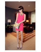 WD9259 Sexy Fashion Dress Pink