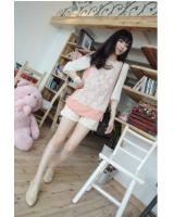 WT9261 Trendy Top Pink