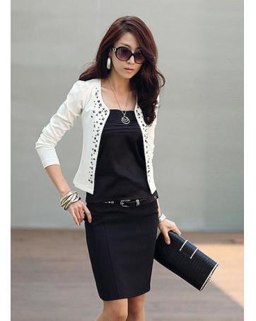 WJ9510 Stylish Sequin Cardigan White_Jackets_Clothing_Women ...