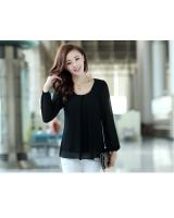 WT9671 Korea Fashion Top Black