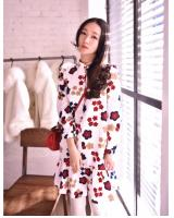 WD5683 Floral Dress White
