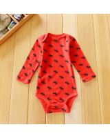 WB1033 Cute Baby Romper Red