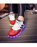 WS001 Cool Multi Colour LED Shoes Front Red