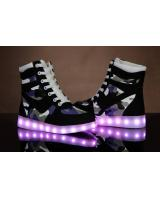 WS002 Cool Multi Colour LED Shoes Black