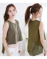 WT5971 Fashion Sexy Top Green