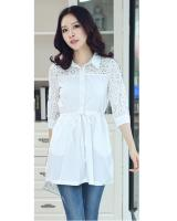 WT6053 Stylish Long Top White