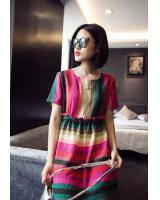 WD6178 Colourful Dress As Picture