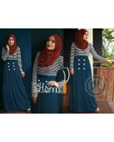 WT1106 Stylish Top and Skirt Blue (1 Set)