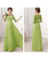 WD6259 Elegant Maxi Dress Green
