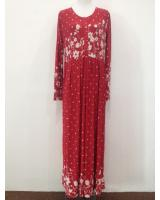 WH1140 Pretty Floral Jubah Red