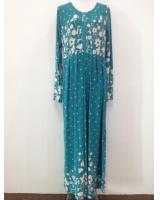 WH1140 Pretty Floral Jubah Blue