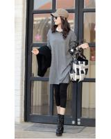 WT6677 Fashion Long Top Light Grey