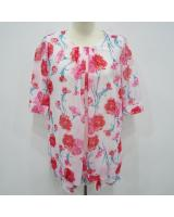 WT6821 Sweet Chiffon Top Red