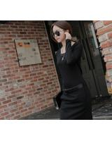 WD6827 Korea Fashion Dress Black