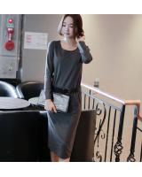 WD6827 Korea Fashion Dress Grey