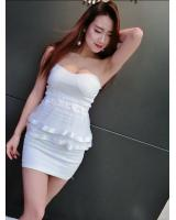 WD6843 Sexy Tube Dress White