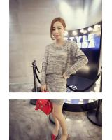 WT3626 Top and Skirt Grey (1 Set)