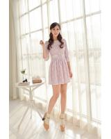 WD6875 Sweet Lace Dress Purple