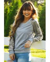WT6935 Fashion Top Grey