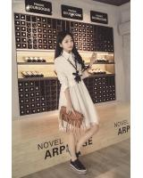 WD7015 Korea Lovely Dress White