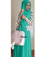 WH1154 Stylish Jubah Set Turquoise