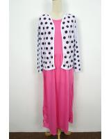 WH1154 Stylish Jubah Set Pink