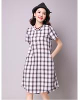 WD7169 Fashion Checker Dress Black