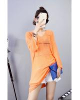 WD7211 Trendy Dress Orange