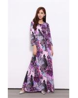 WD7227 Elegant Maxi Dress Purple
