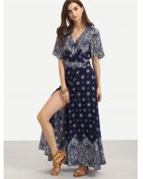 WD7229 Charming Dress Dark Blue