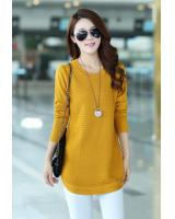WT7238 Fashion Knit Top Yellow