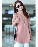 WT7238 Fashion Knit Top Pink